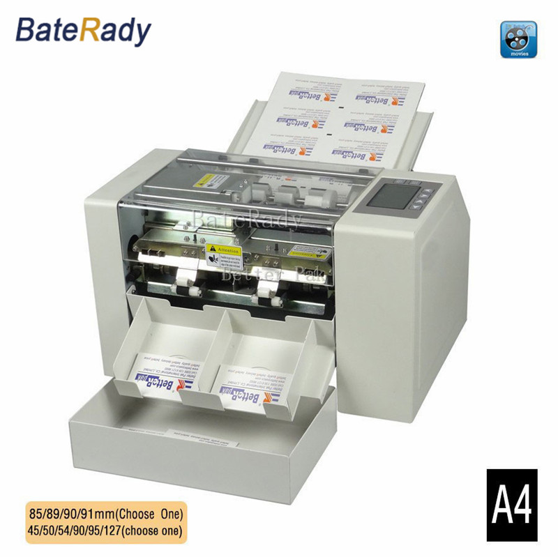 A4 Automatic business card slitter,High precision name card cutting ...