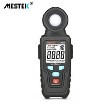 цена на MESTEK LM610 Digital Light Meter Luxmeter 100,000 Lux/FC Meters Photometer Illuminometer Spectra Auto Range With Back light
