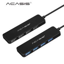 Acasis 고속 4 포트 usb 3.0 허브 전원 공급 장치 포트 usb3.0 분배기 otg 어댑터 imac 노트북 데스크탑 액세서리