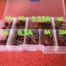 8 видов 5*20 50 шт./лот цилиндрические предохранители комплект 1A-10A 2Pin Предохранитель Ассортимент Комплект