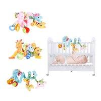 3 estilos Bebé Cama Redonda Círculo Elefante de La Jirafa De Peluche cama Redonda con Sonido Animal de Peluche Niños Juguetes Móviles para recién nacido