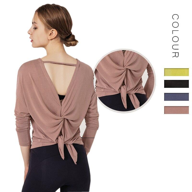 <+>  Женская модальная однотонная косметика для спины с длинным рукавом с короткими рукавами  быстросохну ✔