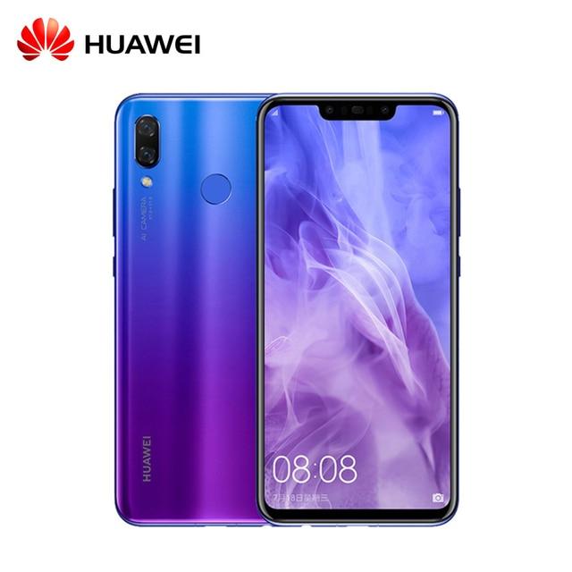 Original Huawei nova 3 Kirin 970 Qcta-core Mobile Phone 6.3 inch Dual Front Back Camera 24.0MP+2.0MP 24.0MP+16.0MP