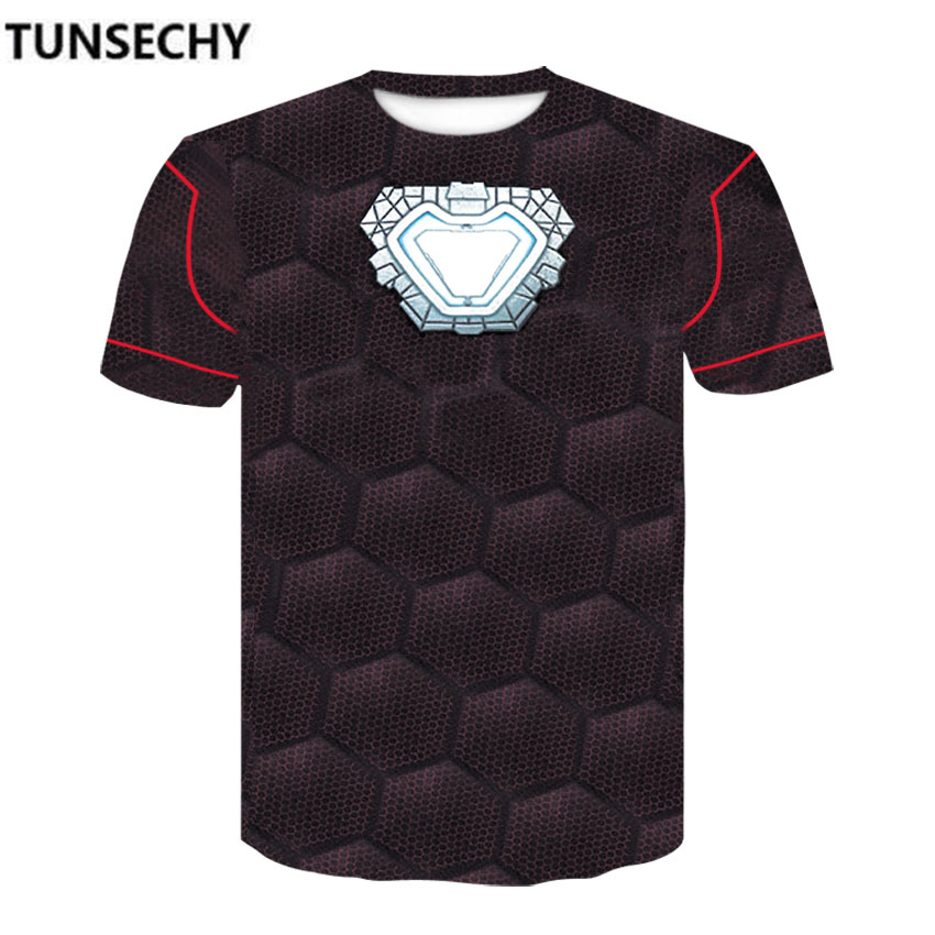 TUNSECHY Avengers 3 Compression Shirts Iron Man 3D Printed T shirts Men Summer NEW Crossfit Top For Male Fitness Cloth