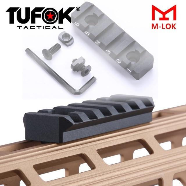 TuFok Mlok Picatinny Rail Section M-lok SLOT SYSTEM Rail Adapter 6-Slot Mount Attachment for Picatinny Mlok Systems Aluminum