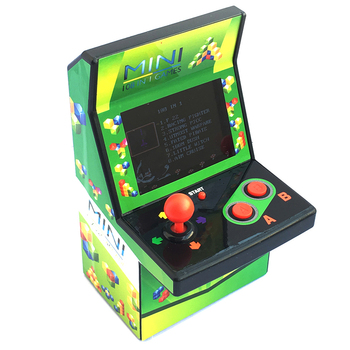 Mini Handheld Game Console Arcade Joystick Machine Built-in Classical 108 Video Game Portable Gaming Player For Children Adult plywood