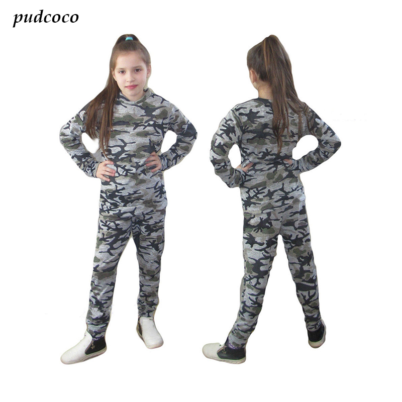 Kids Boy Girl Tracksuit Tops + Trousers/pants Outfits Set,Girls Boys Camouflage Autumn Outfits Clothes  Sportswear Clothing kids clothes boys set 2017 autumn winter boys clothing set printing long sleeve tops camouflage pant 2pcs tracksuit for girl