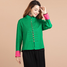 The Spring And Autumn Of 2015 Original Folk Style Blouses, Short Cotton Jacket Collar Female Chinese Female Costume