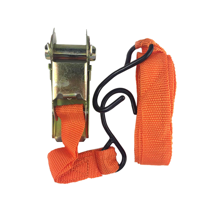 Urijk 4Pcs Ratchet Tie Down Cargo Straps Lashing Package Webbing Hold Secure Ratchet Belt Straps Moving Hauling Truck Tools