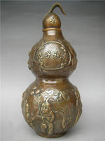 christmas The ancient Chinese copper decorations nine son birthday gourd statue halloween