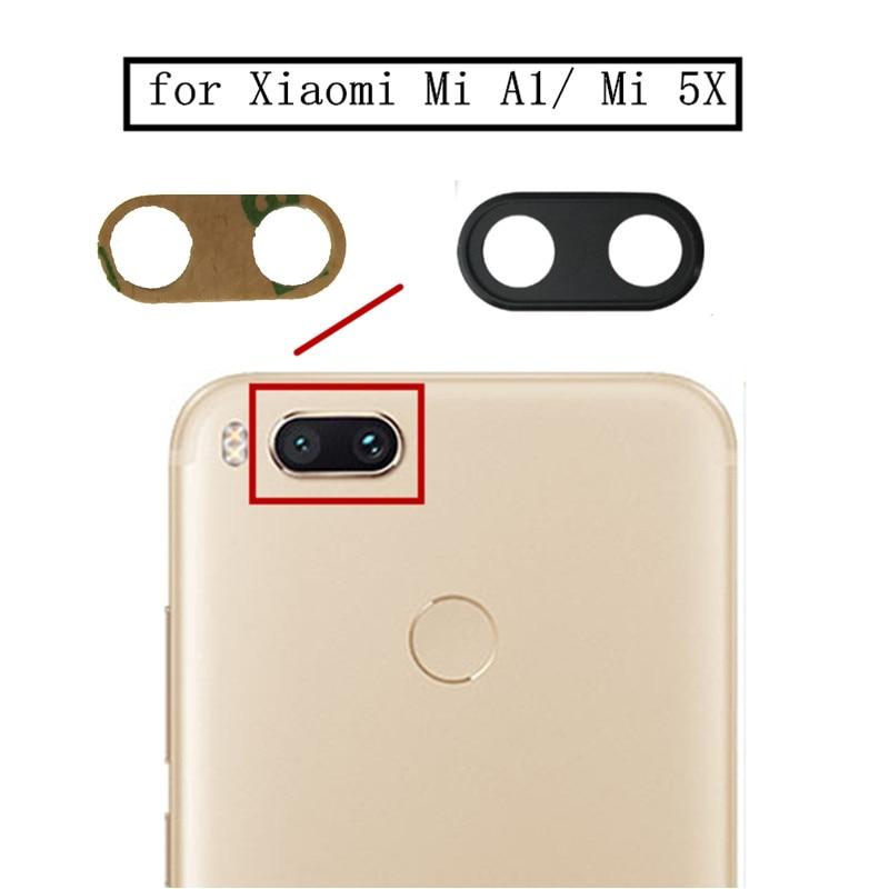 2pcs For Xiaomi Mi A1 Mi 5X Back Rear Camera Glass Lens Main Camera Glass Lens For Xiaomi MiA1 Mi5X Replacement Repair Part