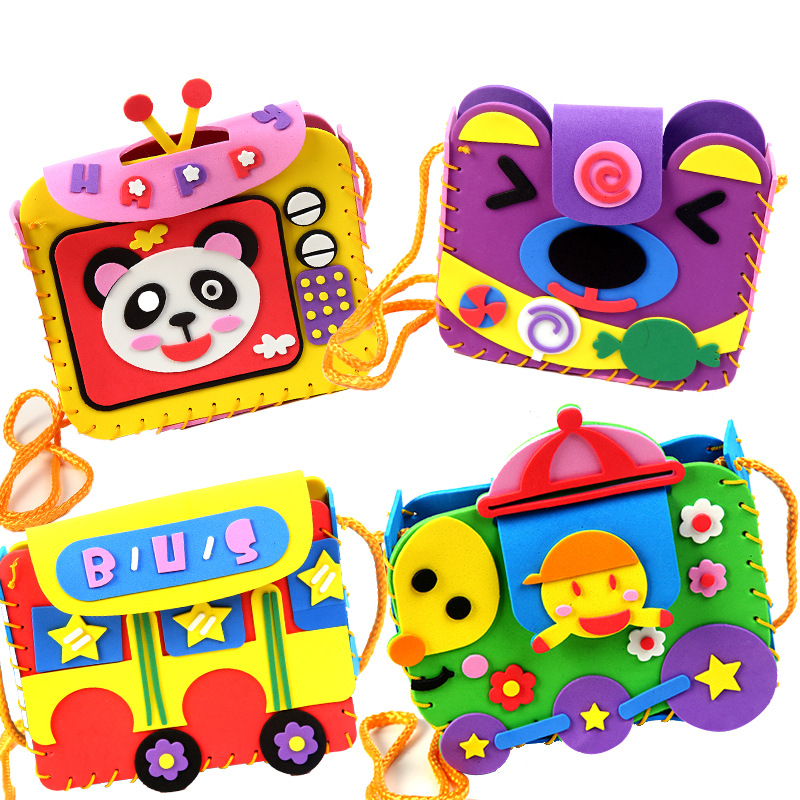 Child Toy EVA DIY Stickers Kindergarten Toy Material Package Cartoon Bag Children Toy Toys Girl Crafts Kids Craft Kits
