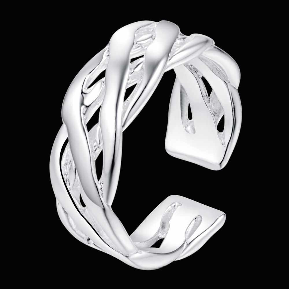 ลานเปิดชุบสีเงินสวยแหวนแฟชั่นJewerlyผู้หญิงและผู้ชาย,/TUMMVSYP FGPOZBAC