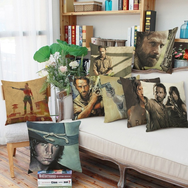 Neue 4545 Cm The Walking Dead Kreative Anime Kissenbezug Büro