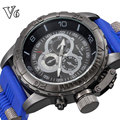Características Homens Relógios V6 Super Speed Marca de Luxo da Banda de Silicone Relógio de Quartzo Relógio Militar Do Exército Sport Watch relogio masculino