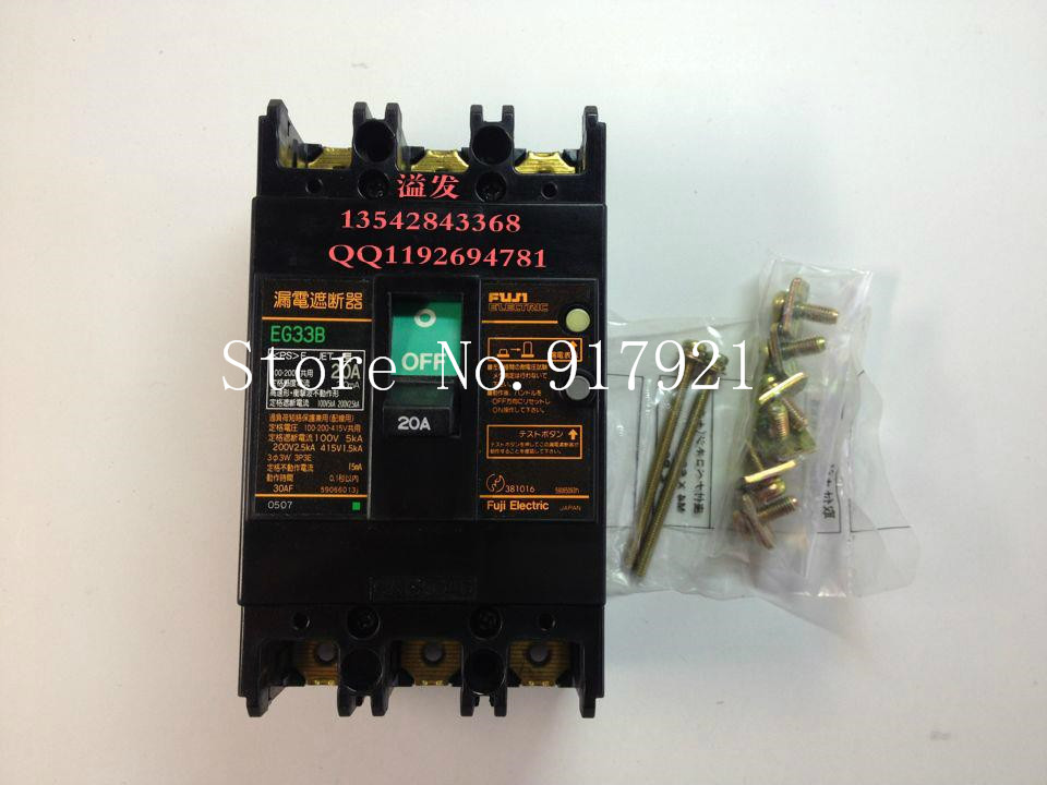 [ZOB] Fuji EG103B 3P20A leakage switch AC100-200-415V (guarantee original authentic) --2PCS/LOT