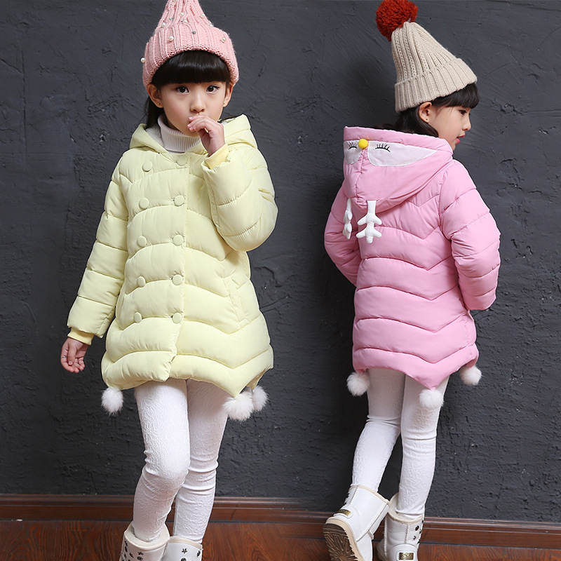 Winter Coat Korean Childrens New Girl Child Thickened Double Breasted Hooded Cotton Girls Down CoatWinter Coat Korean Childrens New Girl Child Thickened Double Breasted Hooded Cotton Girls Down Coat