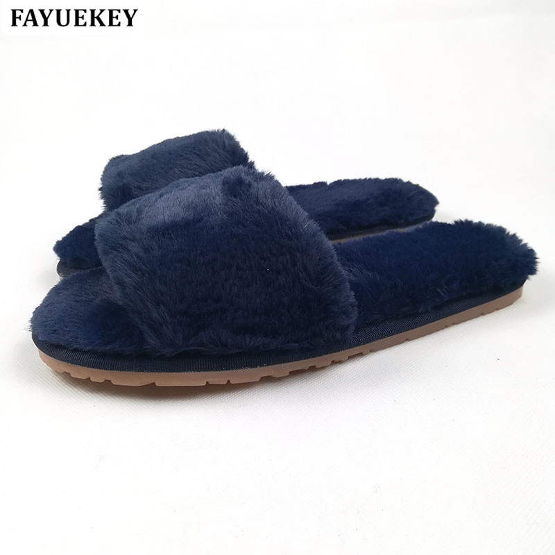 FAYUEKEY 2018 New Fashion Spring Autumn Winter Home Cotton Plush Slippers Women Indoor Floor Open-toed  Flat Shoes Girls Gift vanled 2017 new fashion spring summer autumn 5 colors home plush slippers women indoor floor flat shoes free shipping