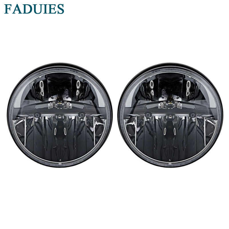 FADUIES 7inch 36W LED Headlight for Jeep Wrangler JK CJ TJ LJ Hummer H1 H2 LED Projector Driving Lamps-White Hi/Lo Beam 1Pair