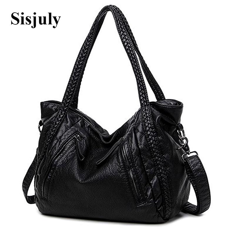 Sisjuly 2018 Leather Bag Women Handbags Soft Female Bag Crossbody For Women's Shoulder Bags Ladies Casual Tote Hobo Sac A Maine