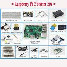 (Pi included) Raspberry Pi 2 Model B 1GB RAM Starter Pack Starter kits pi box cable leds breadboard Pi Cobbler Breakout Kit GPIO