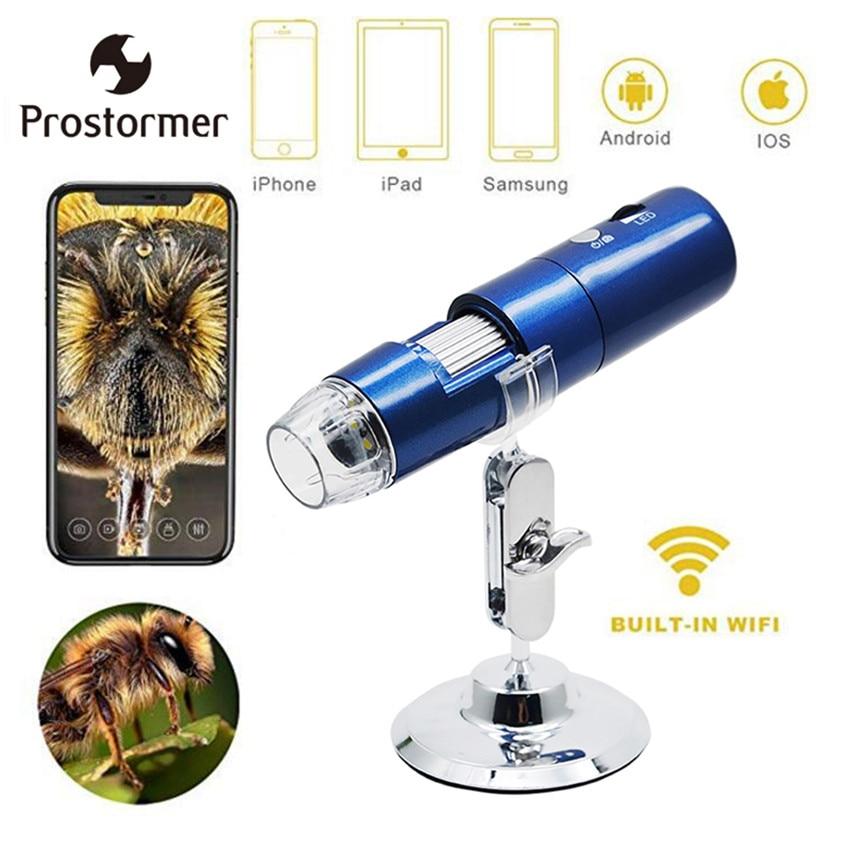 Prostormer 1000X Wifi microscope Digital Microscope Usb Magnifier Inspection Camera For Kids Educational Toys 2mp digital microscope usb magnifier camera microscope inspection camera
