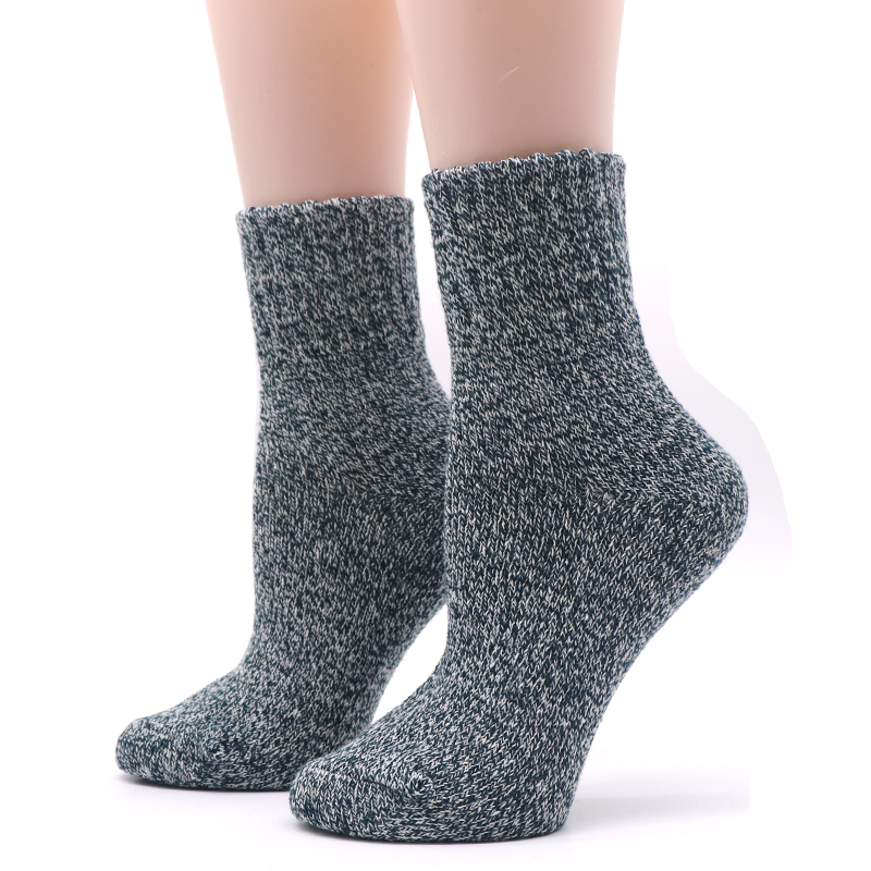 Winter Thermal Thick Socks  Comfortable Female Solid Casual   3