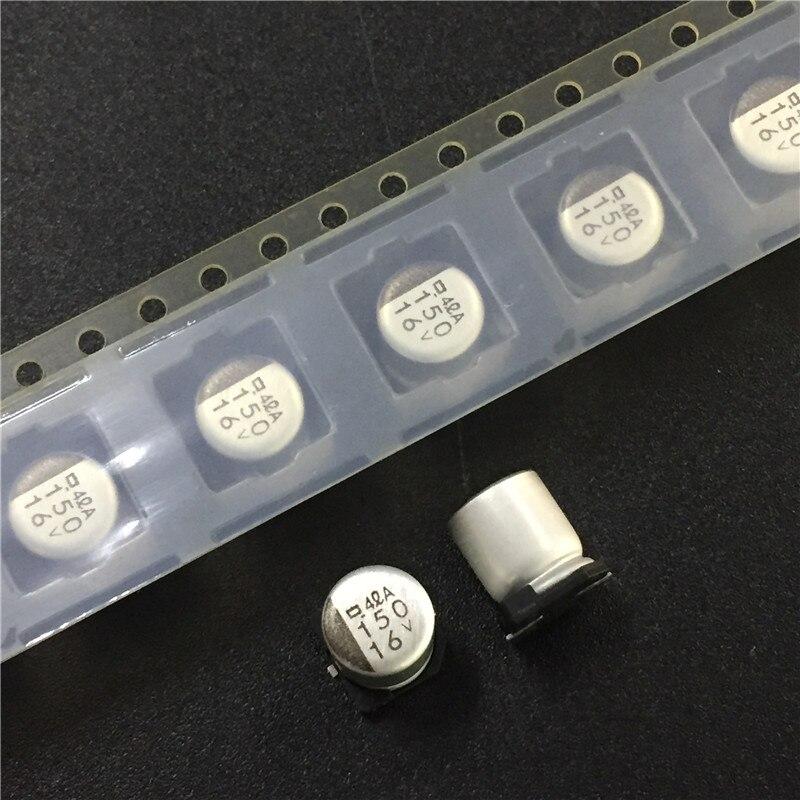 10pcs 150uF 16V NIPPON NCC MVA Series 6.3x7.7mm 16V150uF SMD Aluminum Electrolytic Capacitor