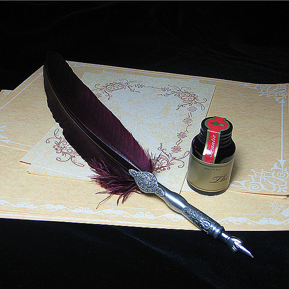 Nature Feather Fountain Vintage Pen with Gift Box 1 Ink 5 Nibs nature explorer box set
