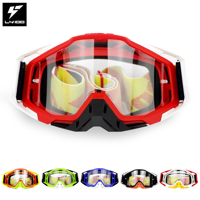 Image 3 - LY 100 Brand Motocross Goggles ATV Casque Motorcycle Glasses Racing Moto Bike Cycling CS Gafas Sunglasses Original Package-in Motorcycle Glasses from Automobiles & Motorcycles