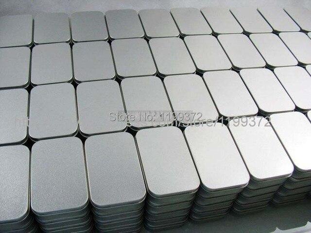 200 Pcs Recipient En Etain Boite De Rangement Metal Rectangle Pour Perles Carte Visite