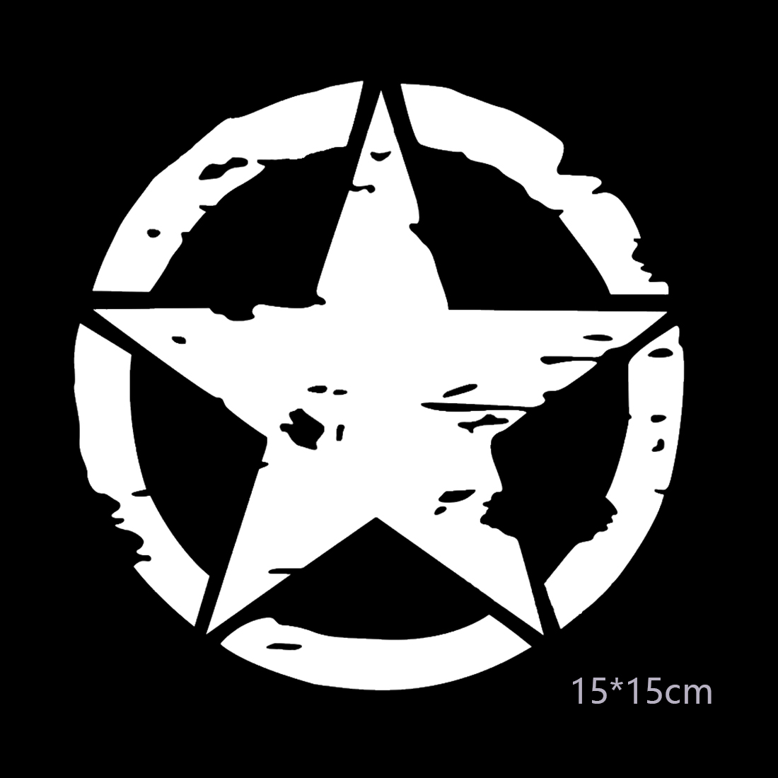 Dewtreetali 15cm15cm army star graphic decals motorcycle car stickers decal vinyl car styling