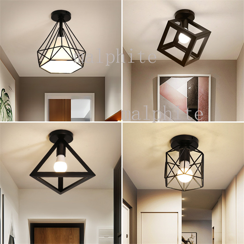 Nordic LED Iron Ceiling Lights Lighting Coffee Shop Simple Decor Ceiling Lamp Living Room Lights Bedroom Luminaria Home Decor|Ceiling Lights|   - title=