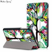 Painted Pu Intelligent Wake Up Leather Cover For Samsung Galaxy Tab A 8 0 T380 T385