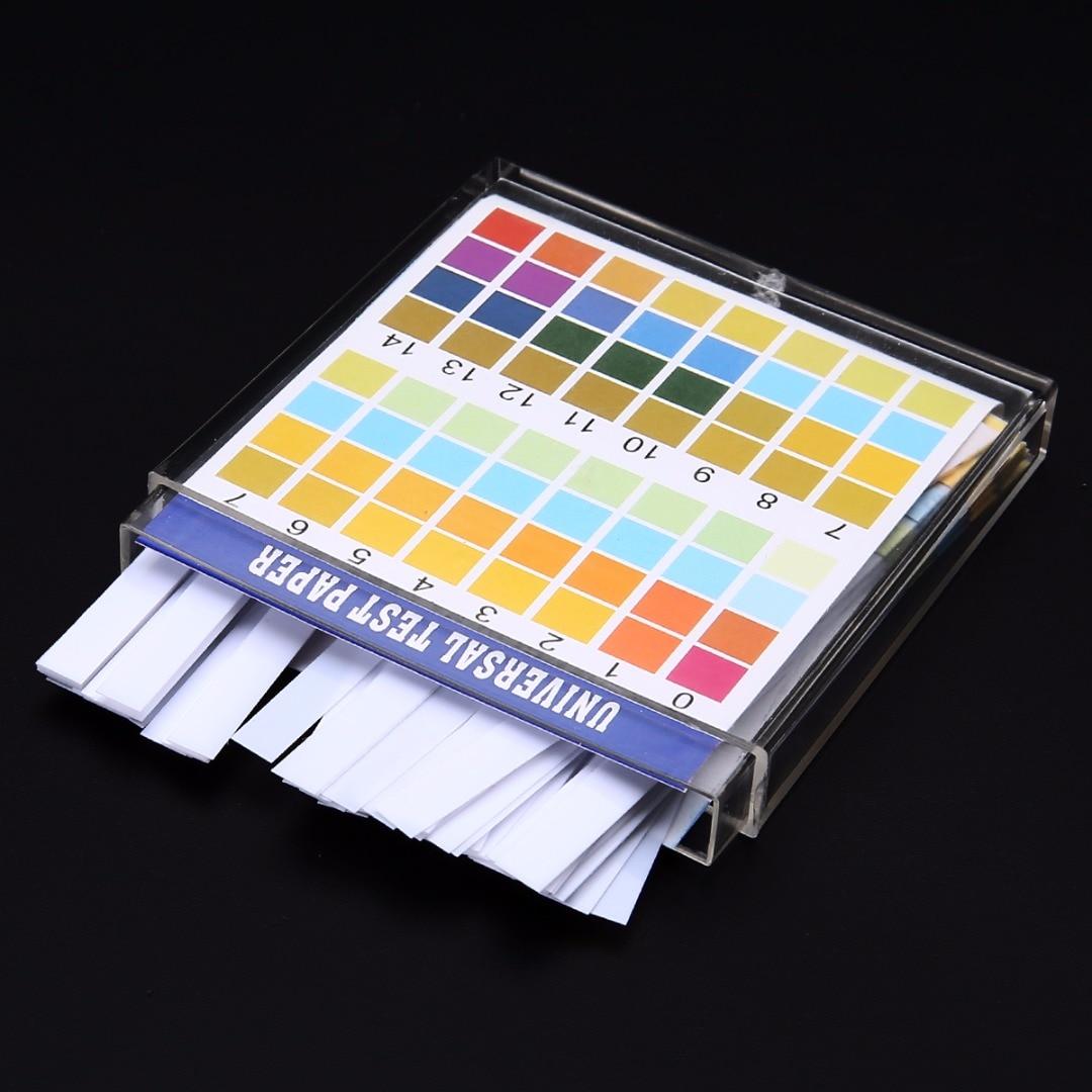 100 Strips/Set 0-14 PH Test Kit Alkaline Acid Indicator Paper Water Saliva Litmus Tester Mayitr Measurement Analysis Instruments