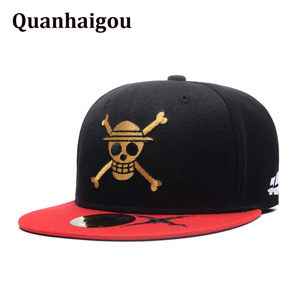 Collection Here Anime One Piece Monkey D Luffy Cotton Printing Sun Hat Luminous Hat Baseball Cap Unisex Accessories Cosplay Hip-hop Fashion Boys Costume Accessories Kids Costumes & Accessories
