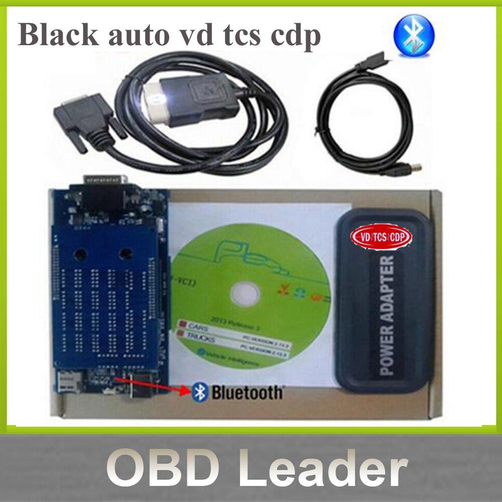 Prix pour 2017 Date version 2015.1 cdp logiciel noir vd tcs cdp pro scanner pour Voitures et Camions 3 in1 auto obd2 outil de diagnostic