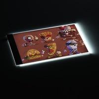 Portátil A4 Caja Ligera LLEVADA Dibujo Tracing Trazador Copia Bordo Tabla Pad Animación Panel Pizarra Electrónica para el Artista Dibujar Stencil