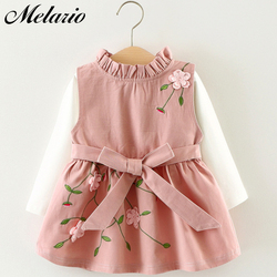 Melario Baby Clothing Sets New Spring Autumn 2pcs Baby Girls Clothes Printing Girls Party Dress Princess Dress Newborn Dress