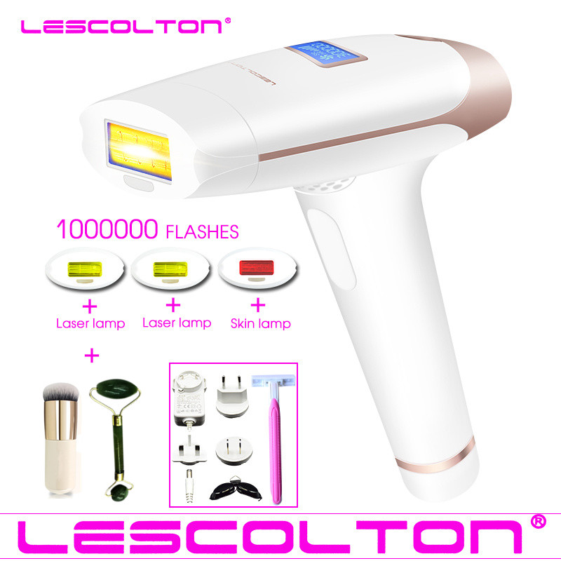 1000000times Original Lescolton 3in1 IPL depiladora Laser Hair Removal LCD Display Permanent Bikini body Armpit face