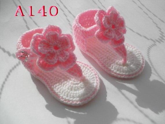 Häkeln Baby kleinkind schuhe Baby handgewebte Rose Multicolor blumen ...