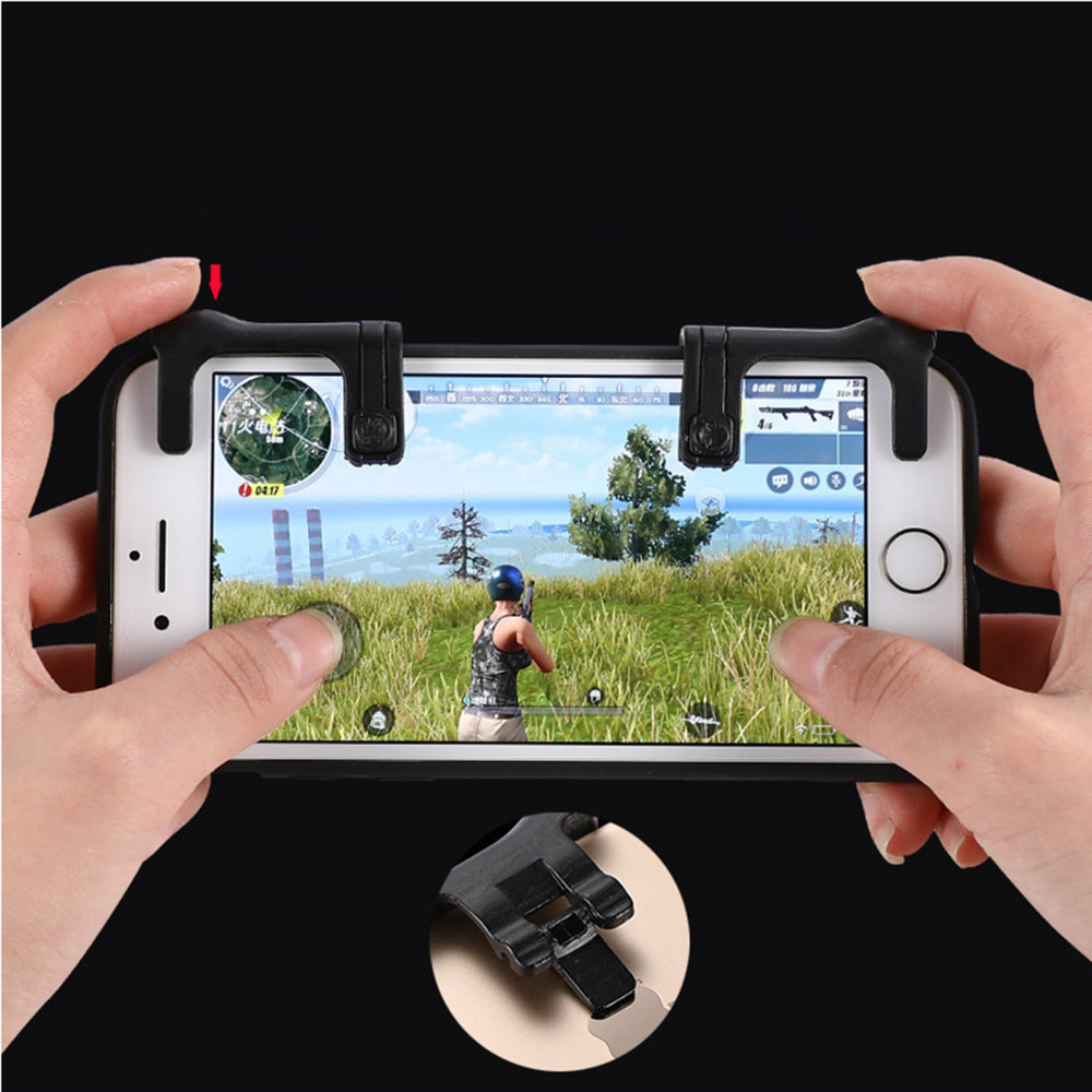 1 pair Mobile Gaming Trigger for Knives Out Rules of Survival Mobile Game Fire Button Aim Key L1R1 Shooter Controller PUBG