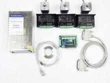 CNC Routeur Kit 3 Axes, 3 pcs TB6600 4.0A moteur pas à pas pilote + 3 pcs Nema17 0.44NM moteur + 5 carte d'interface axe + puissance fournir