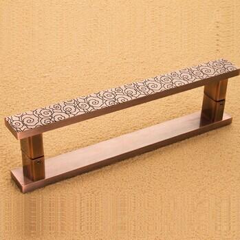 350mm de bronze do vintage da liga de alumínio da porta puxadores Chinerse estilo bronze Big porta puxa Portão, KTV Hotel de porta De Vidro alças