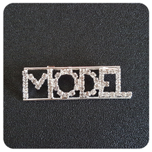 """""""Model"""" Occupation Crystal Letters Womens Brooch"""