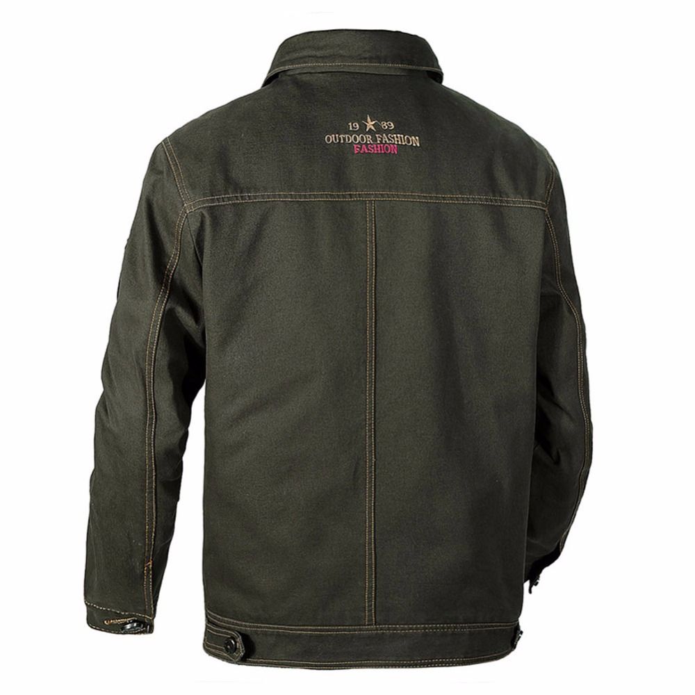 8fcb3397e529b Idopy Mens Fashion Vintage Casual Big And Tall Flight Trucker Motocycle  Embroidery Sadari Jacket Outerwear Plus Size For Male-in Jackets from Men s  Clothing ...