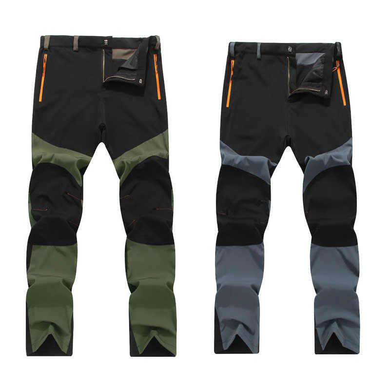 Naudamp Pantalones de Senderismo Convertibles con Cremallera para Hombres Pantalones de Carga de protecci/ón UV repelentes al Agua de Secado r/ápido