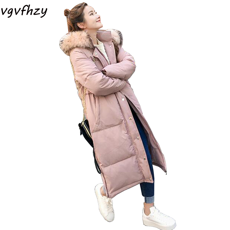 2017 New Winter Jackets Women Cotton coat Long sleeve Solid color long Fashion Women Coat Warm Outwear High quality Parkas LU496 newear 2017 new fashion coat women winter jacket coat womens medium long cotton warm coat outwear high quality hot sale