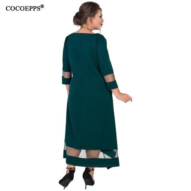 A Line 5xl 6xl Plus Size Winter Dress Mesh Elegant Women Dress Large Size Long Maxi Dress Evening Party Big Size vestidos 2019 1