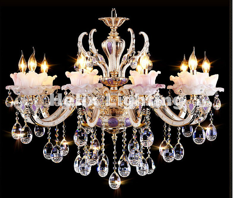 European Zinc Alloy Crystal Lights Crystal Chandeliers Pendant Lamp Dining Room Living Lobby lamp Lighting E14 LED Candle Bulb black crystal chandelier light modern black chandelier lighting bedroom dining room living lobby lamp lighting candle bulb